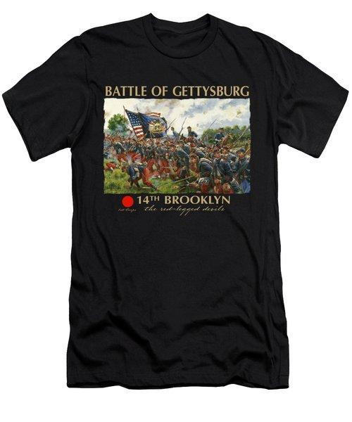 Men Of Brooklyn - The 14th Brooklyn 14th N.y.s.m. Charge On The Railrad Cut - Battle Of Gettysburg Men's T-Shirt (Athletic Fit)