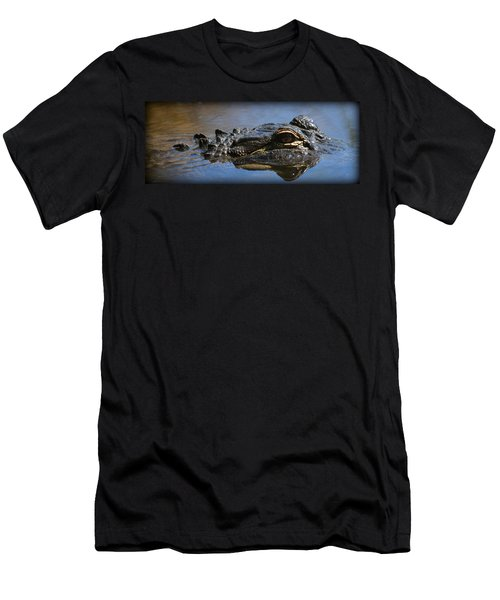 Menacing Alligator Men's T-Shirt (Athletic Fit)