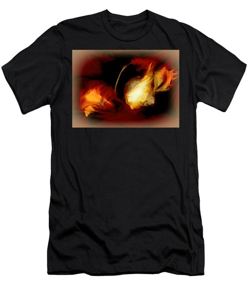 Men's T-Shirt (Athletic Fit) featuring the mixed media Menage A Trois by Lynda Lehmann