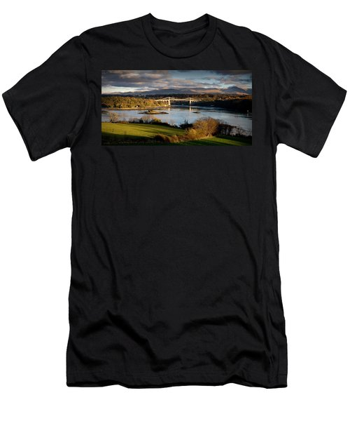 Menai Strait From Anglesey Men's T-Shirt (Athletic Fit)