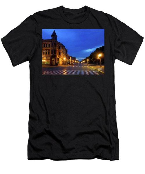Menominee Michigan Night Lights Men's T-Shirt (Athletic Fit)