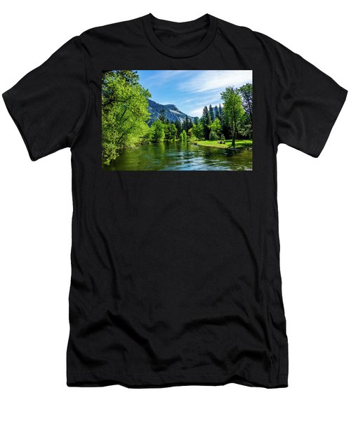 Merced River In Yosemite Valley Men's T-Shirt (Athletic Fit)