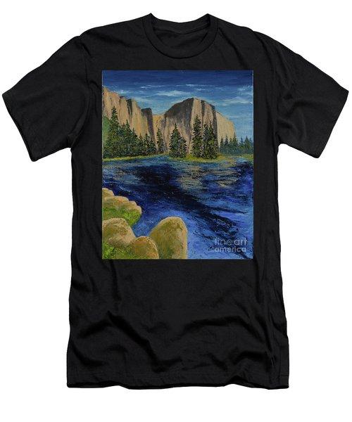 Merced River, Yosemite Park Men's T-Shirt (Athletic Fit)