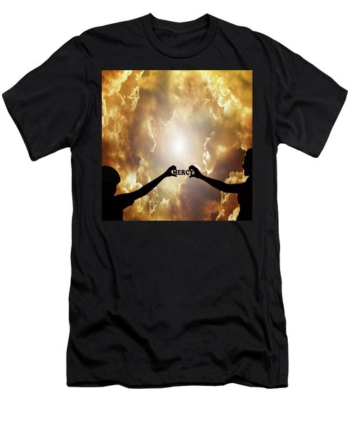Men's T-Shirt (Athletic Fit) featuring the photograph Mercy - Digital Art by Ericamaxine Price
