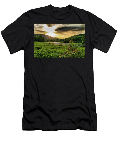 Men's T-Shirt (Athletic Fit) featuring the photograph Meredith Pond Sunset by Betty Pauwels