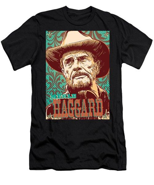 Merle Haggard Pop Art Men's T-Shirt (Athletic Fit)