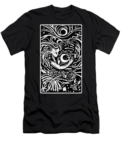 Mermaid Moon Men's T-Shirt (Slim Fit) by Katherine Nutt