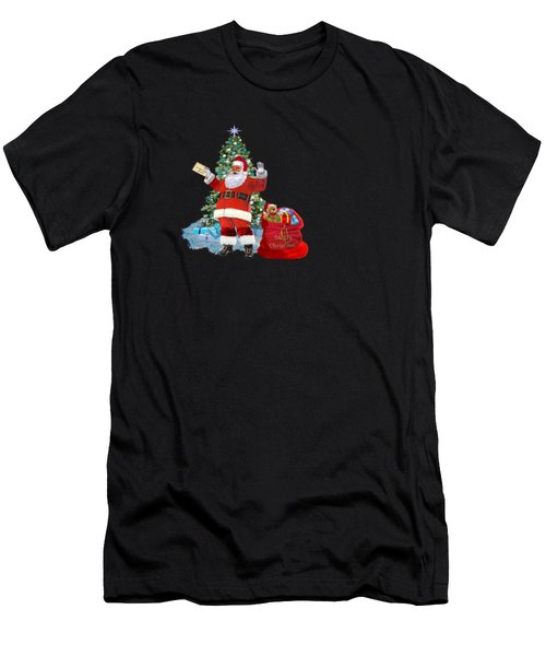 Merry Christmas From Santa Men's T-Shirt (Athletic Fit)