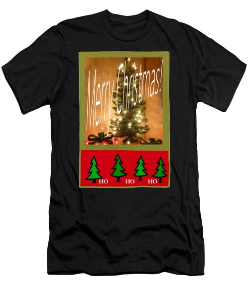 Merry Christmas Hohoho Men's T-Shirt (Athletic Fit)