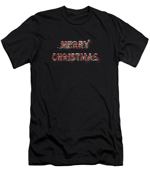 Merry Christmas In Lights 2 Men's T-Shirt (Athletic Fit)