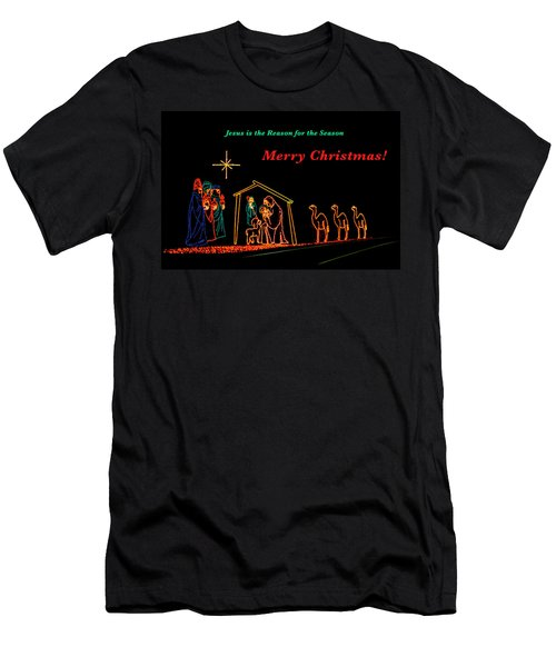 Men's T-Shirt (Athletic Fit) featuring the photograph Merry Christmas by Penny Lisowski