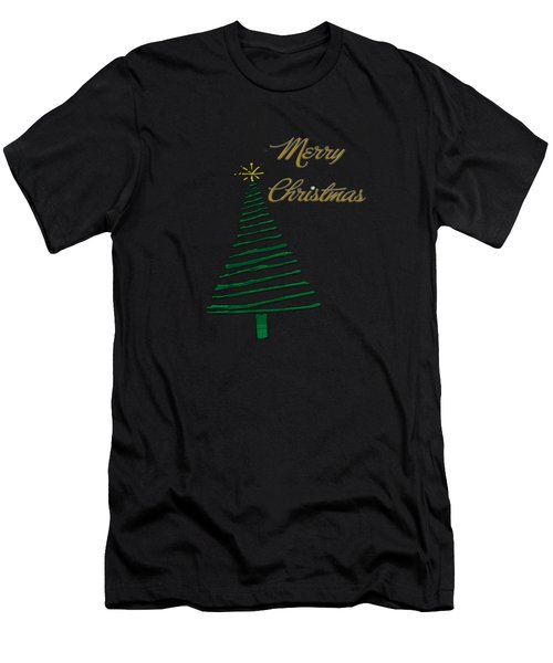 Merry Christmas Tree Men's T-Shirt (Athletic Fit)