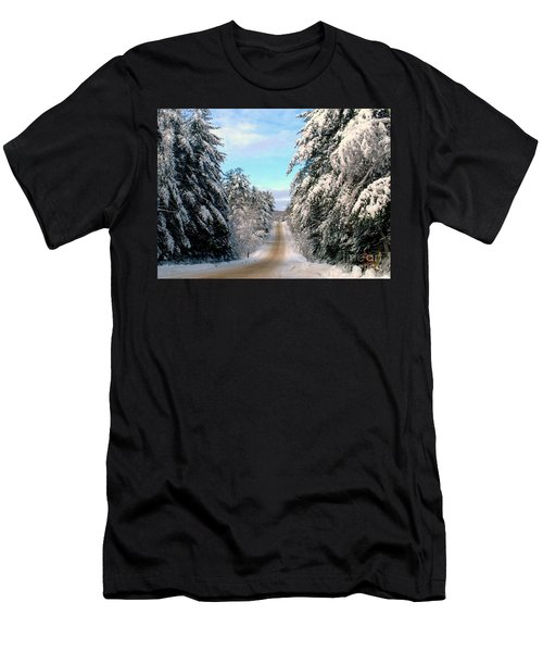 Merry Christmas,happy Holidays Men's T-Shirt (Slim Fit) by Elfriede Fulda
