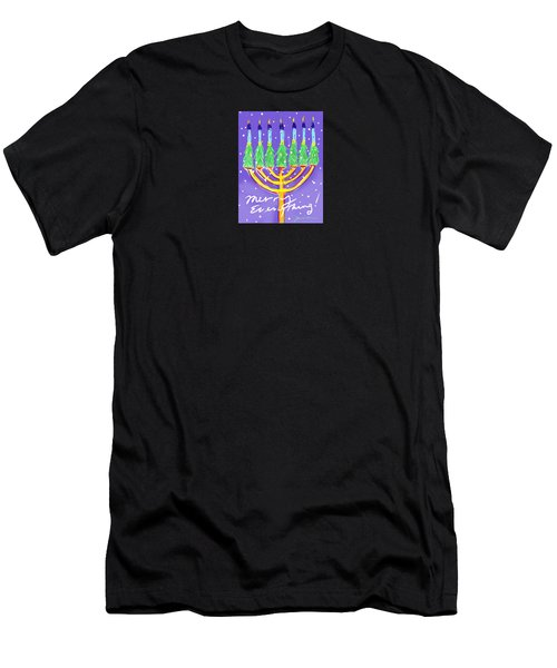 Merry Everything Men's T-Shirt (Slim Fit) by Jean Pacheco Ravinski