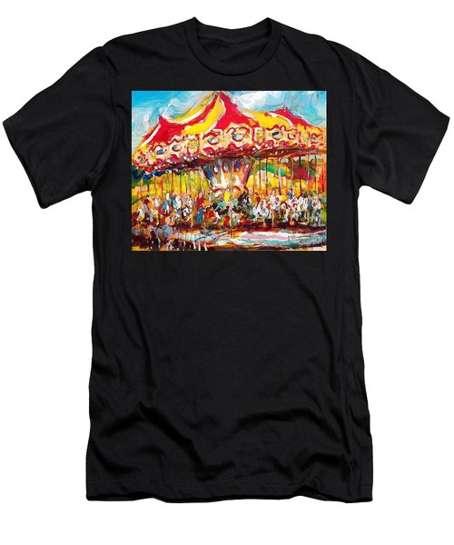 Merry-go-round Men's T-Shirt (Athletic Fit)
