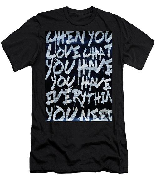 Merry Xmas Men's T-Shirt (Athletic Fit)