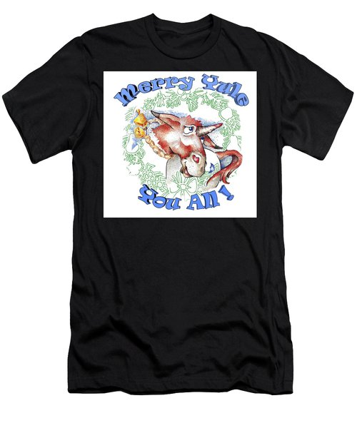 Real Fake News Merry Yule You All Men's T-Shirt (Athletic Fit)