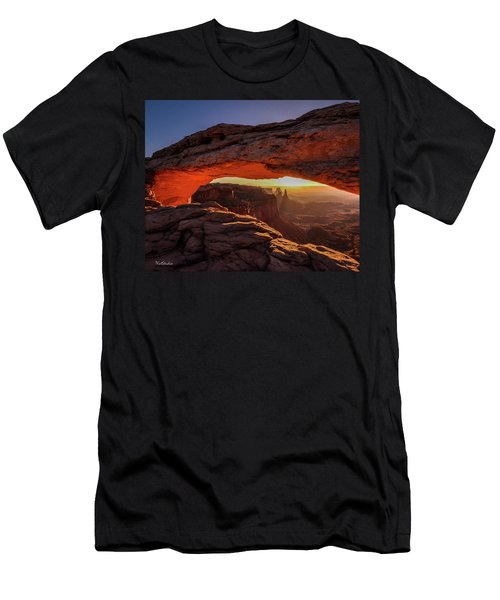 Mesa Arch At Sunrise 1, Canyonlands National Park, Utah Men's T-Shirt (Athletic Fit)