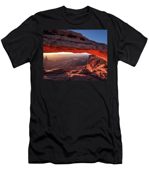 Mesa Arch At Sunrise 2, Canyonlands National Park, Utah Men's T-Shirt (Athletic Fit)