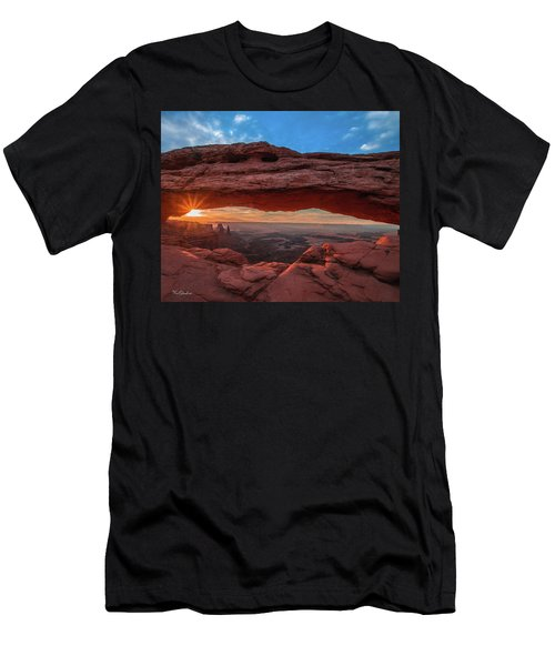 Mesa Arch At Sunrise 3, Canyonlands National Park, Utah Men's T-Shirt (Athletic Fit)