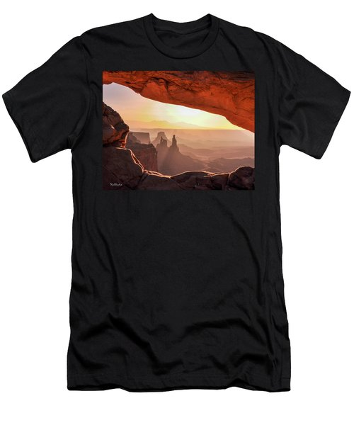 Mesa Arch At Sunrise, Washer Woman Formation , Canyonlands National Park, Utah Men's T-Shirt (Athletic Fit)
