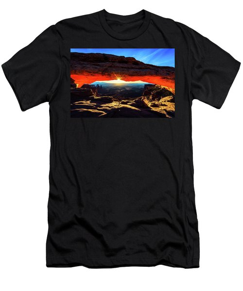 Men's T-Shirt (Athletic Fit) featuring the photograph Mesa Arch Sunrise by John Hight