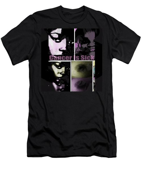 Men's T-Shirt (Slim Fit) featuring the mixed media Message For All by Fania Simon