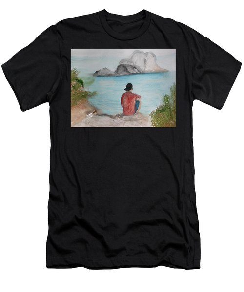 Message In A Bottle Men's T-Shirt (Athletic Fit)