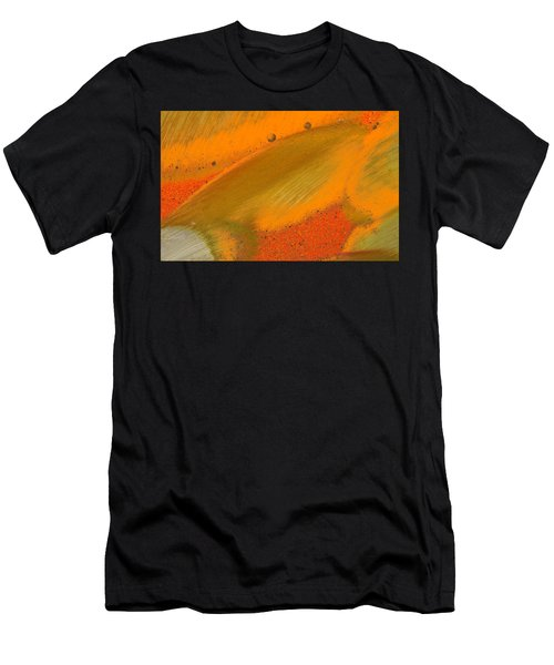 Men's T-Shirt (Athletic Fit) featuring the photograph Metal Abstract Four by David Waldrop