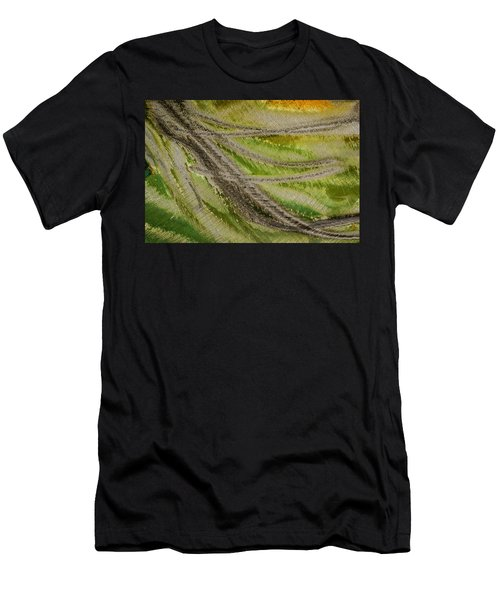Men's T-Shirt (Athletic Fit) featuring the photograph Metal Abstract Two by David Waldrop