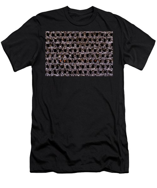 Metal Faces In Downtown Winter Park Florida Men's T-Shirt (Athletic Fit)