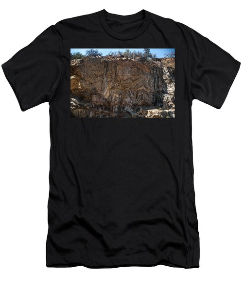 Metamorphic Geologic Wall In Kings Canyon Giant Sequoia National Monument Sequoia National Forest Men's T-Shirt (Athletic Fit)