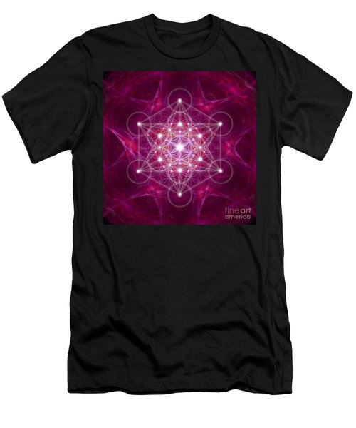 Metatron Cube Fractal Men's T-Shirt (Athletic Fit)