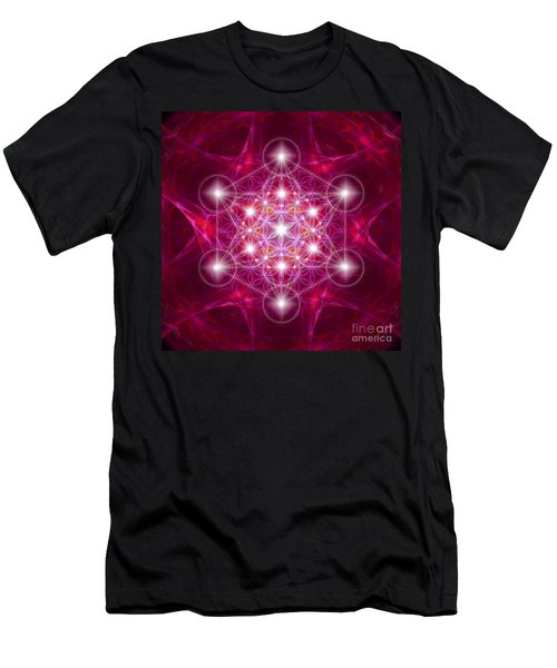 Metatron Cube With Flower Men's T-Shirt (Athletic Fit)