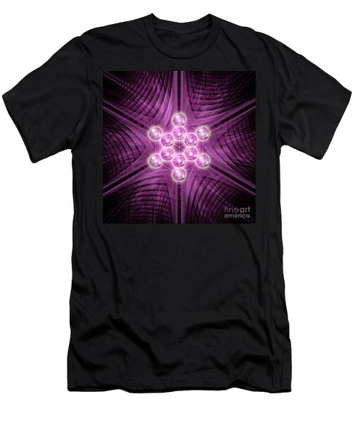Metatron's Cube Atomic Men's T-Shirt (Athletic Fit)