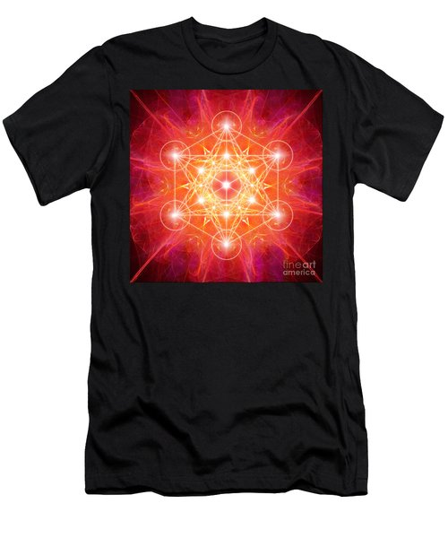Metatron's Cube Light Men's T-Shirt (Athletic Fit)