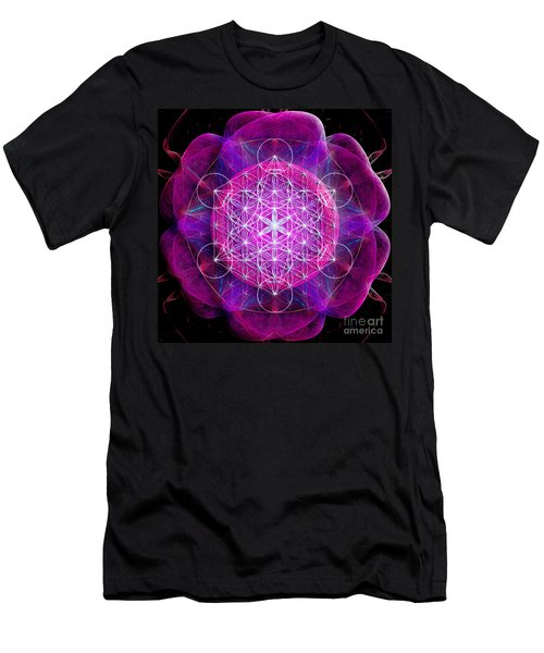 Metatron's Cube On Fractal Pletals Men's T-Shirt (Athletic Fit)