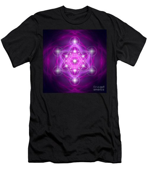 Metatron's Cube Purple Men's T-Shirt (Athletic Fit)
