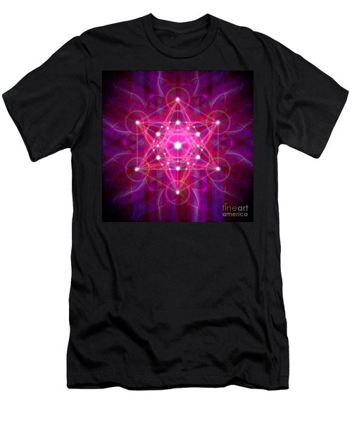 Metatron's Cube Reflection Men's T-Shirt (Athletic Fit)