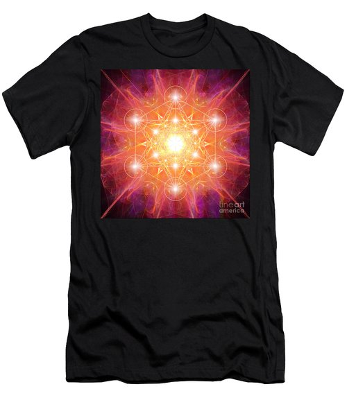 Metatron's Cube Shiny Men's T-Shirt (Athletic Fit)
