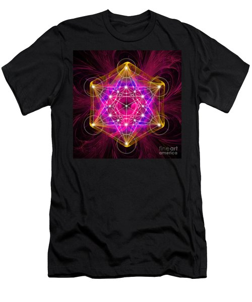 Metatron's Cube With Flower Of Life Men's T-Shirt (Athletic Fit)