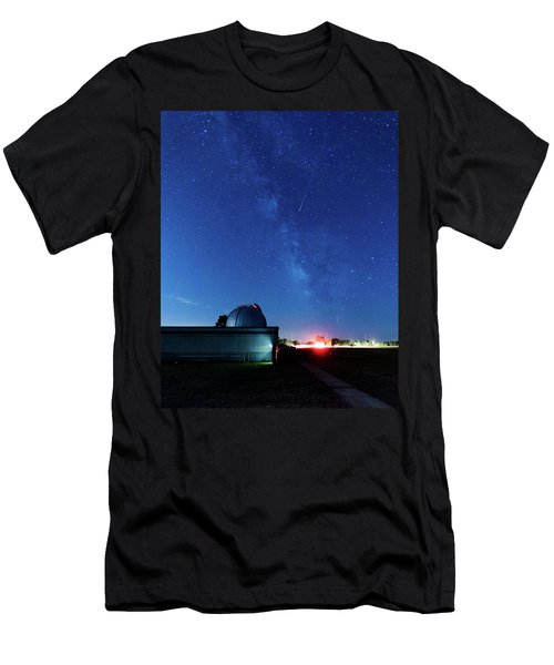 Meteor And Observatory Men's T-Shirt (Slim Fit) by Jay Stockhaus