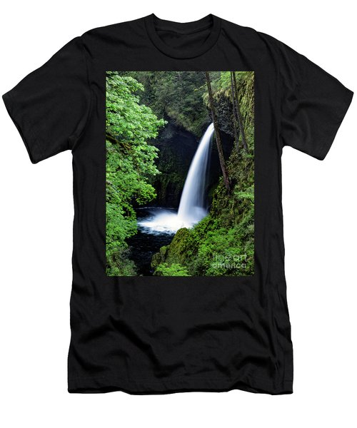 Metlako Falls Waterfall Art By Kaylyn Franks Men's T-Shirt (Athletic Fit)