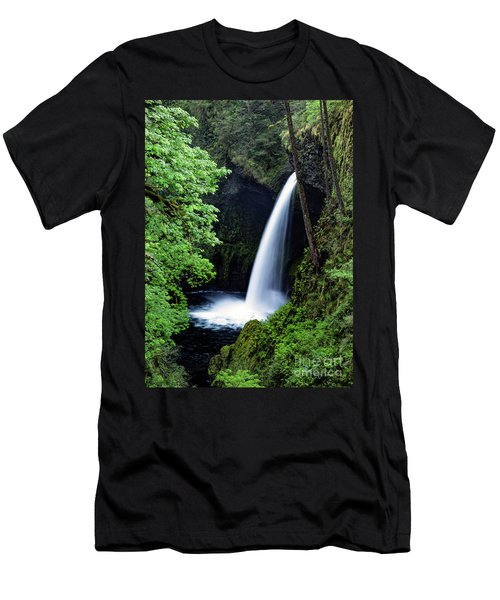 Metlako Falls Waterfall Art By Kaylyn Franks Men's T-Shirt (Athletic Fit)