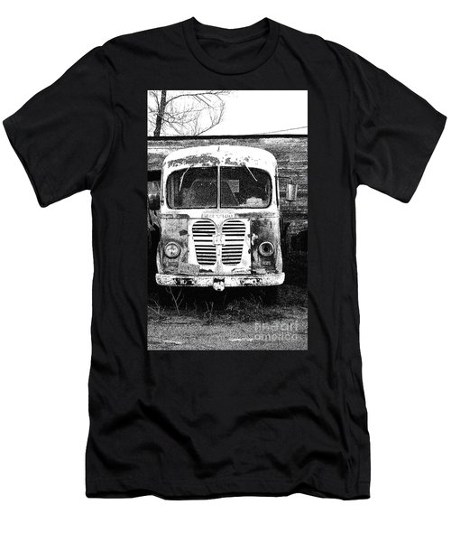Metro Black And White Men's T-Shirt (Slim Fit) by Renie Rutten