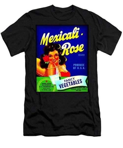 Mexicali Rose Vintage Vegetable Crate Label Men's T-Shirt (Slim Fit) by Peter Gumaer Ogden