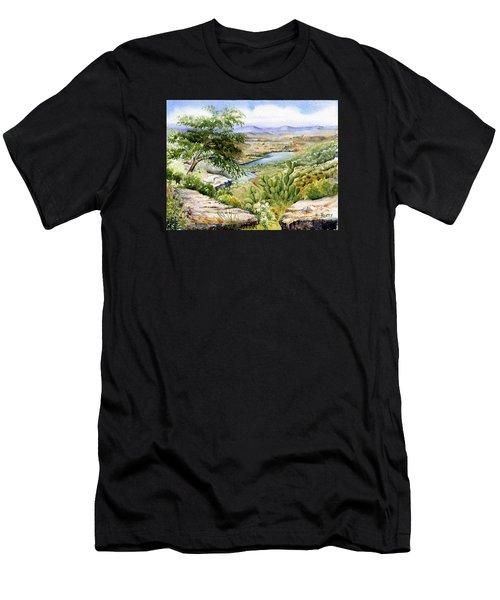 Mexican Landscape Watercolor Men's T-Shirt (Athletic Fit)