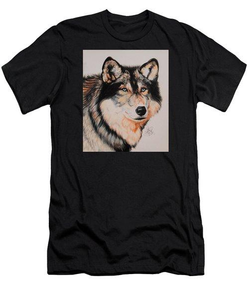 Mexican Wolf Hybrid Men's T-Shirt (Slim Fit) by Cheryl Poland