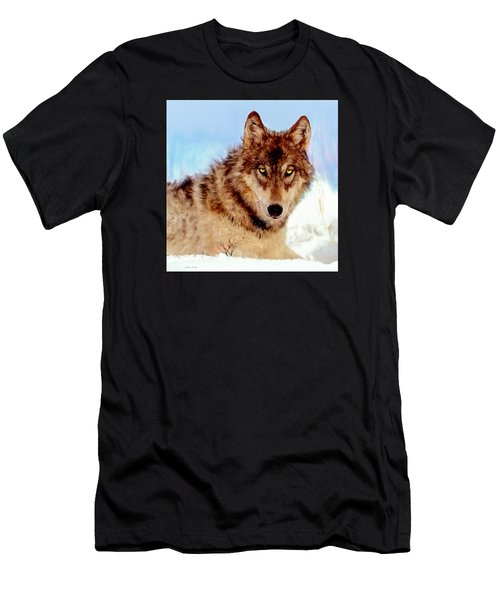 Mexican Wolf Painting Men's T-Shirt (Athletic Fit)