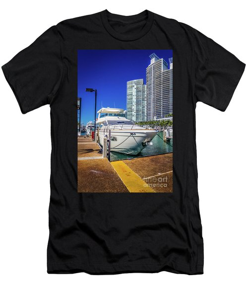 Miami Beach Marina 4578 Men's T-Shirt (Athletic Fit)